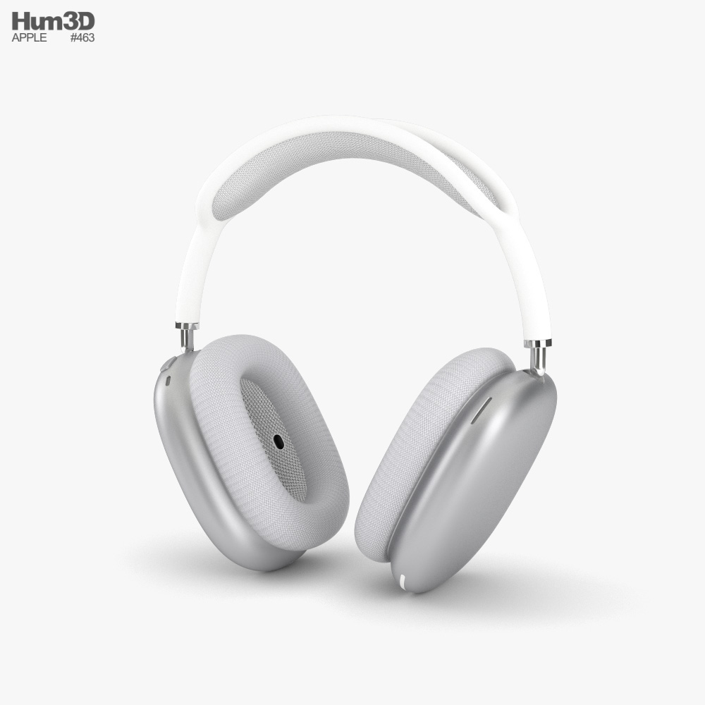 Apple AirPods Max Silver 3d model
