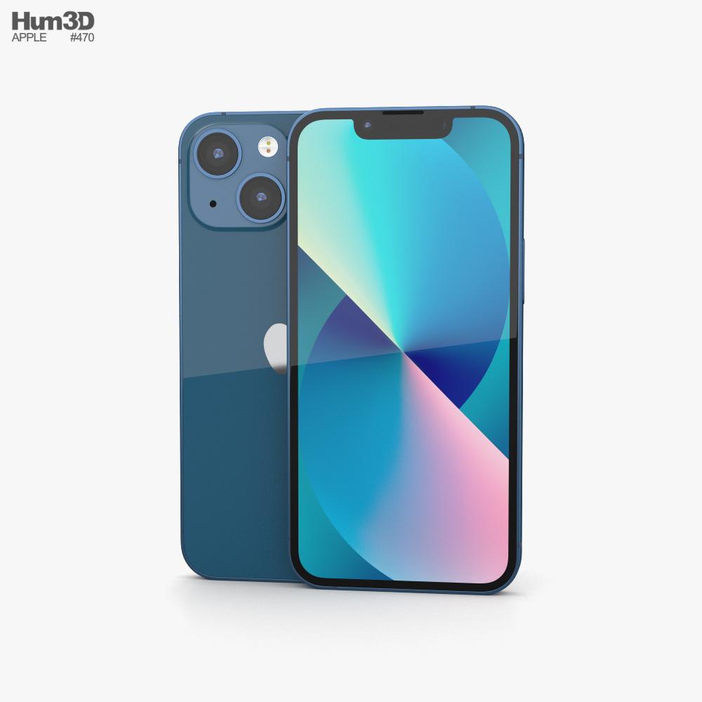 Apple iPhone 13 mini Blue 3D model