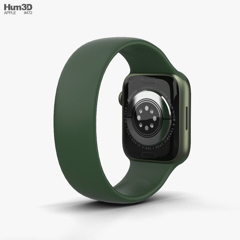 Apple Watch Series 7 45mm Green Aluminum Case with Solo Loop 3D模型