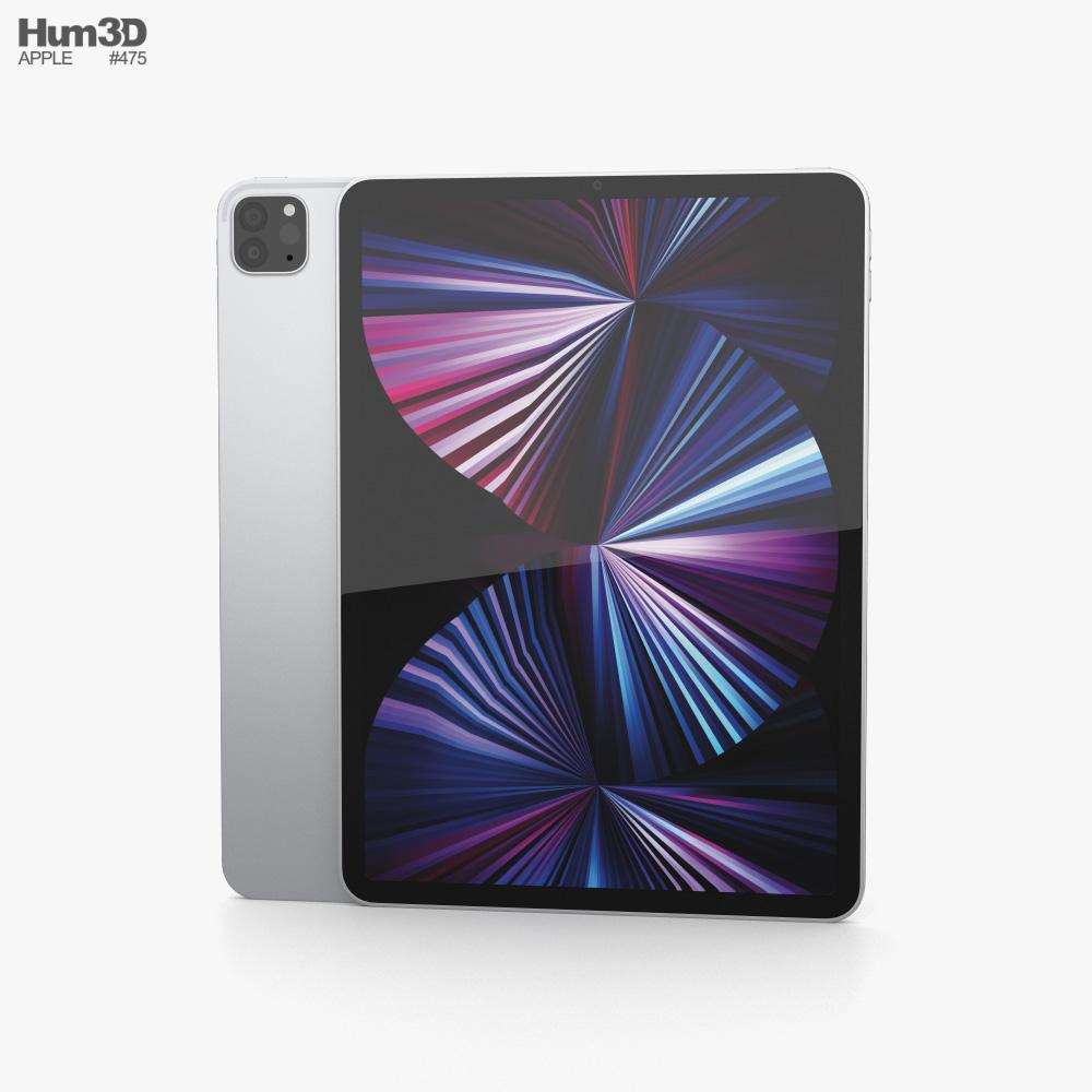 Apple iPad Pro 11-inch 2021 Silver 3D model