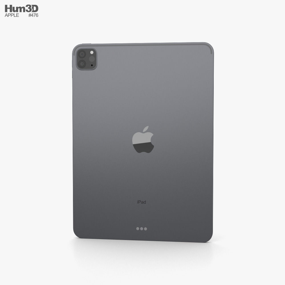 Apple iPad Pro 11-inch 2021 Space Gray 3d model