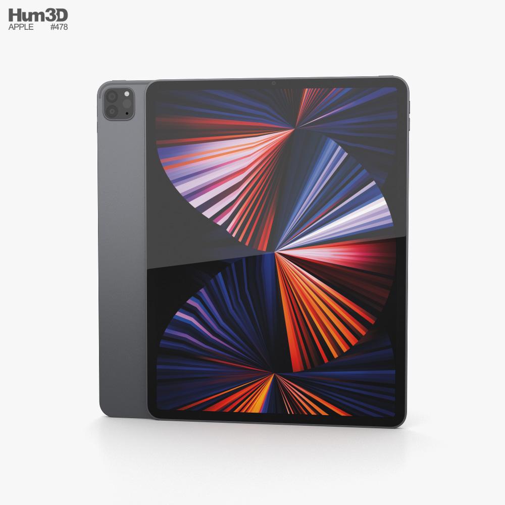 Apple iPad Pro 12.9-inch 2021 Space Gray 3d model