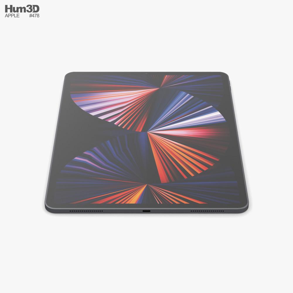 Apple iPad Pro 12.9-inch 2021 Space Gray 3D model ...
