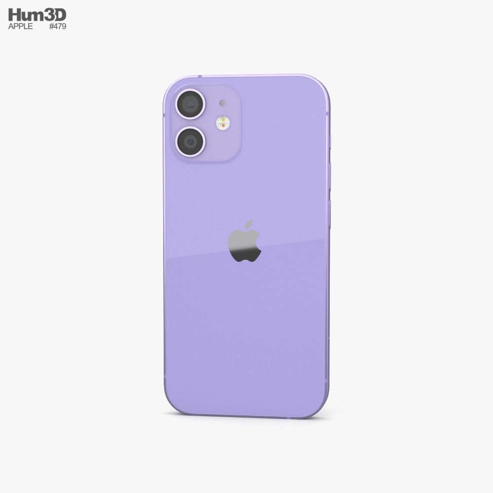 Apple iPhone 12 mini Purple 3d model