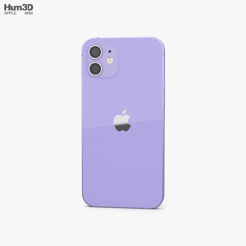 Apple iPhone 12 Purple 3d model