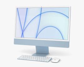 Apple iMac 24-inch 2021 Blue 3D model