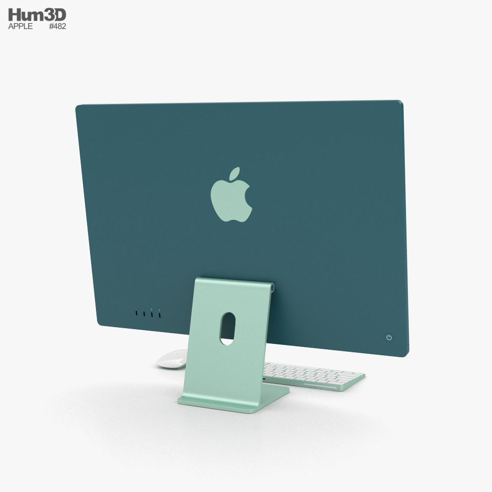 Apple iMac 24-inch 2021 Green 3d model