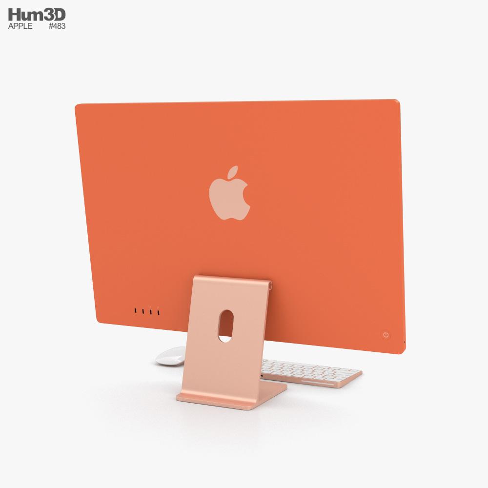 Apple iMac 24-inch 2021 Orange 3d model