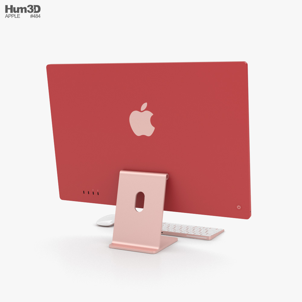 Apple iMac 24-inch 2021 Pink 3d model