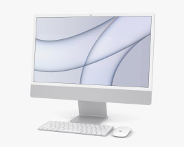Apple iMac 24-inch 2021 Silver 3D model
