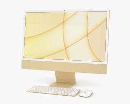 Apple iMac 24-inch 2021 Yellow 3D model