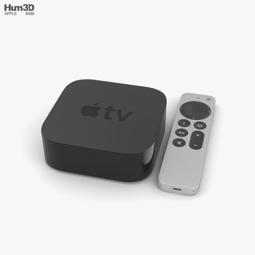 Apple TV 4K 2021 3d model