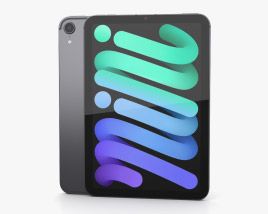 Apple iPad mini (2021) Space Gray 3D model