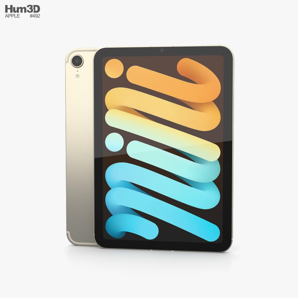 Apple iPad mini (2021) Starlight 3D-Modell