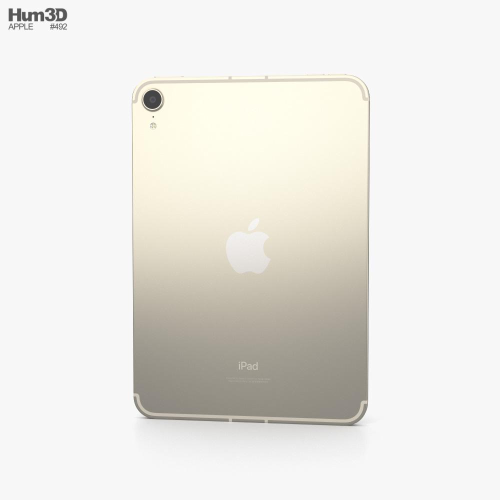 Apple iPad mini (2021) Starlight 3d model