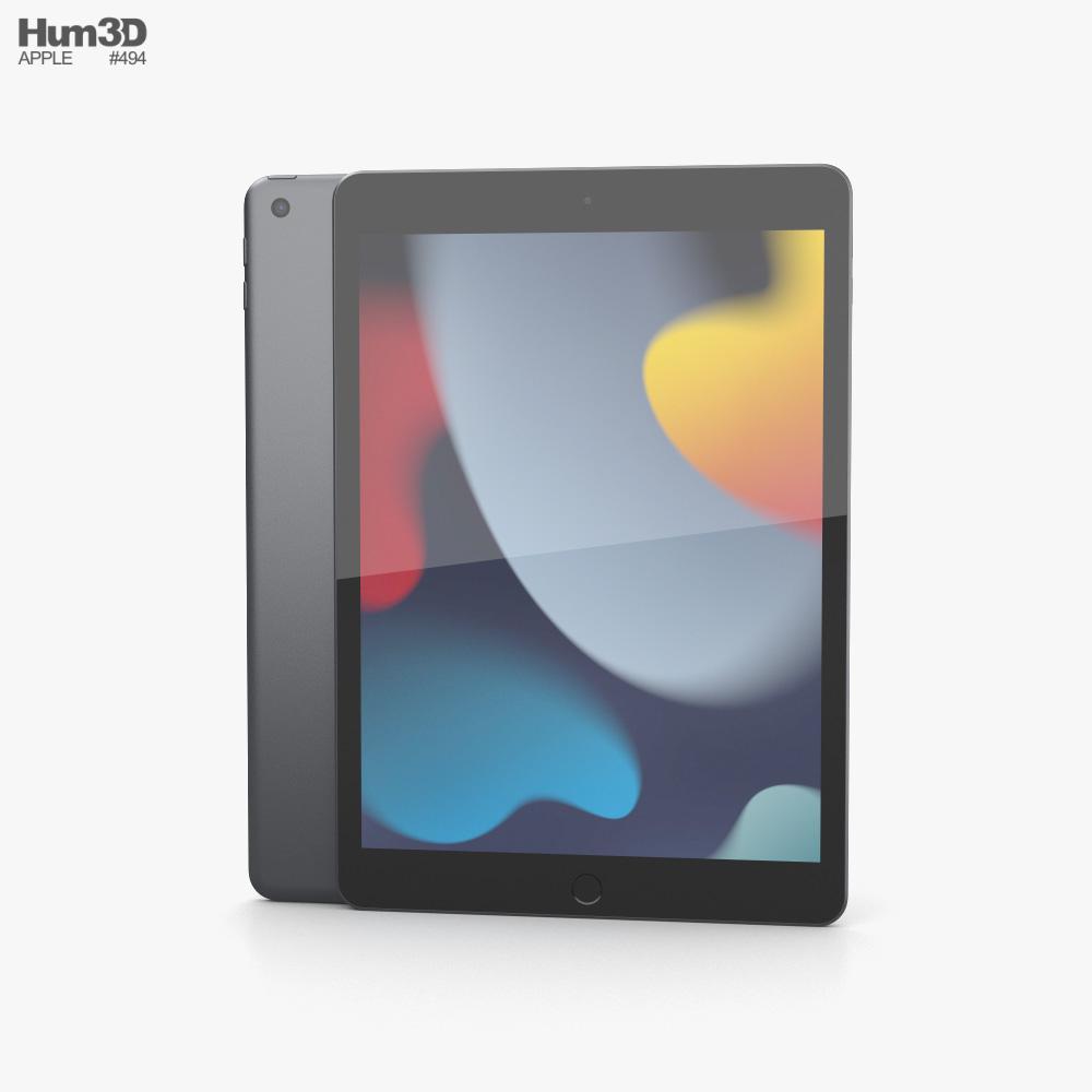 Apple iPad 10.2 (2021) Space Gray Modelo 3D