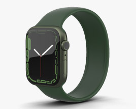 Apple Watch Series 7 41mm Green Aluminum Case with Solo Loop 3D模型