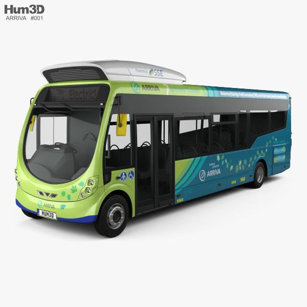 3D model of Arriva Milton Keynes Electric Bus 2014