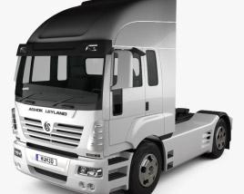 3D model of Ashok Leyland Newgen Tractor Truck 2015