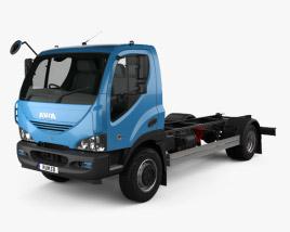 3D model of Ashok Leyland Avia D120 Chassis Truck 2006