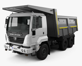 3D model of Ashok Leyland U-2523 T Tipper Truck 2012