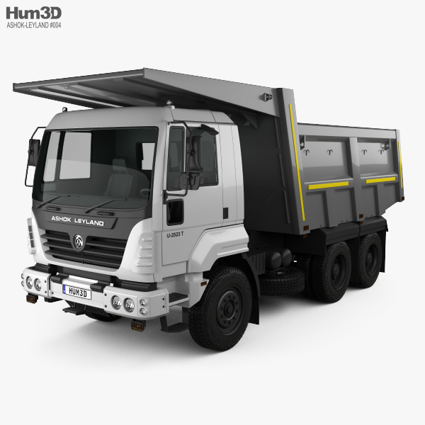 3D model of Ashok Leyland U-2523 T Tipper Truck 2012