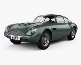 3D model of Aston Martin DB4 GT Zagato 1960