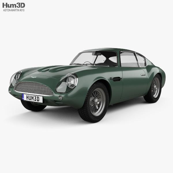 3D model of Aston Martin DB4 GT Zagato 1960