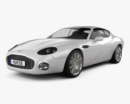 3D model of Aston Martin DB7 GT Zagato 2002