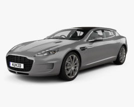 3D model of Aston Martin Rapide Bertone Jet 2+2 2013