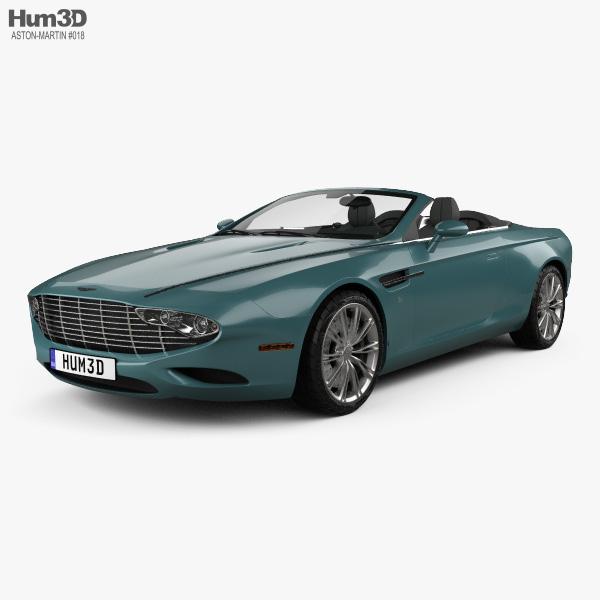 3D model of Aston Martin DB9 Spyder Zagato Centennial 2014