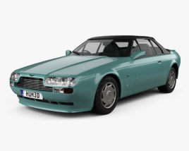 3D model of Aston Martin V8 Zagato Volante 1987