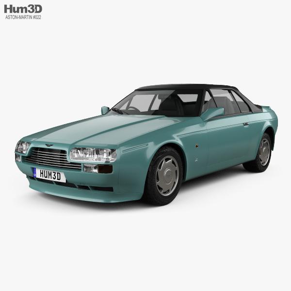 3D model of Aston Martin V8 Zagato Volante 1987
