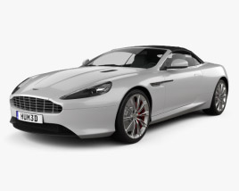3D model of Aston Martin DB9 Volante 2013