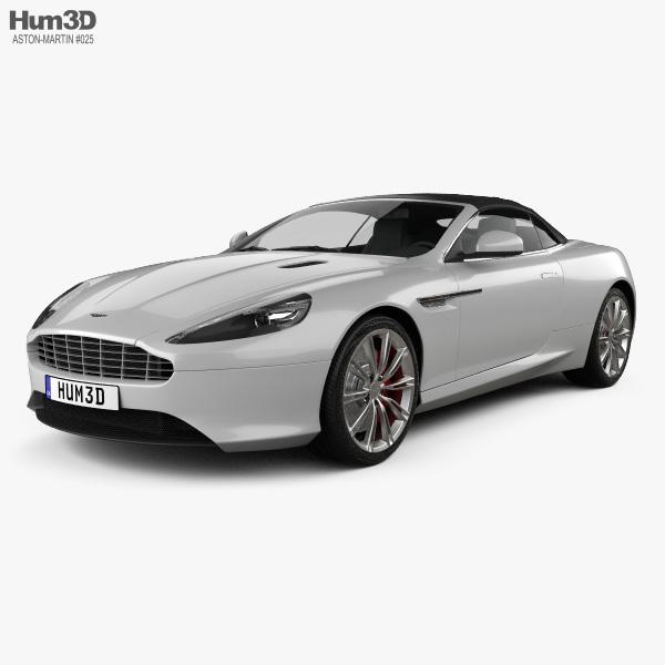3D model of Aston Martin DB9 Volante 2013