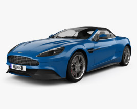 3D model of Aston Martin Vanquish Volante 2013