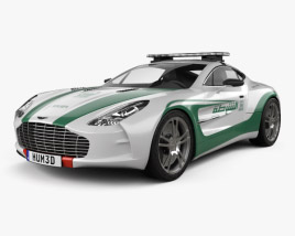3D model of Aston Martin One-77 Police Dubai 2013