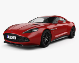 3D model of Aston Martin Vanquish Zagato 2016