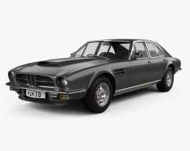 3D model of Aston Martin Lagonda V8 saloon 1974
