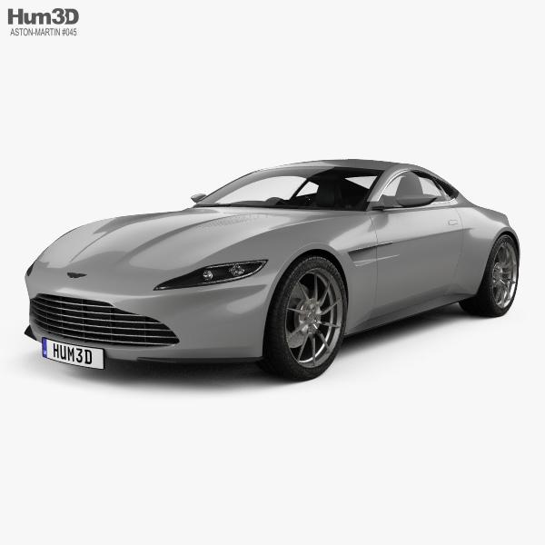 Aston Martin DB10 with HQ interior 2015 3D model