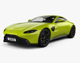 3D model of Aston Martin Vantage coupe 2018