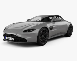 3D model of Aston Martin Vantage Roadster 2020