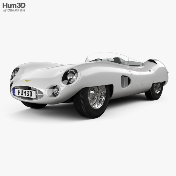 Aston Martin DBR1 LeMans 1959 3D model
