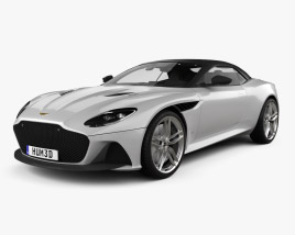 3D model of Aston Martin DBS Superleggera Volante with HQ interior 2020
