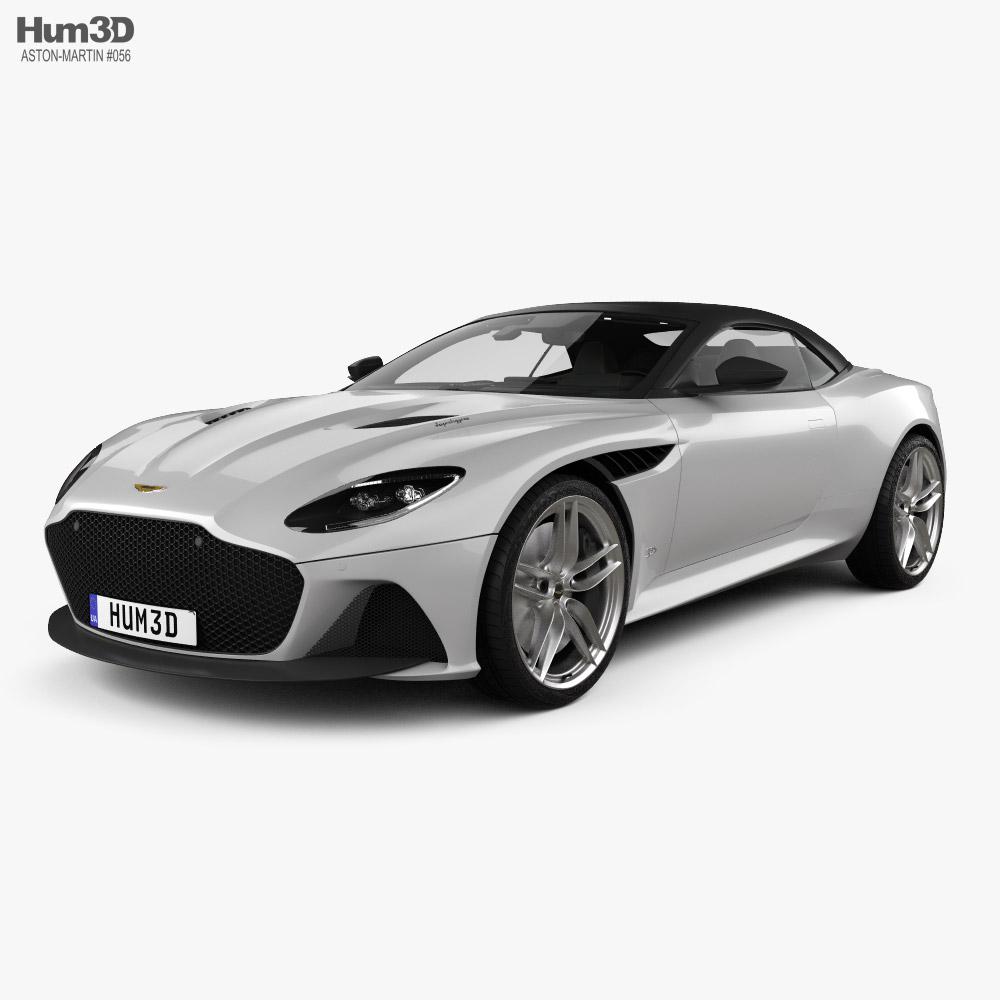3D model of Aston Martin DBS Superleggera Volante with HQ interior 2020