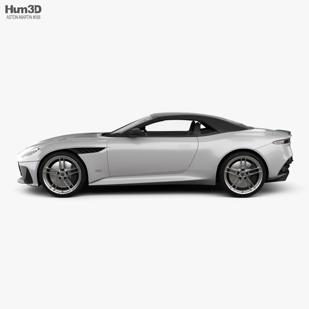 Aston Martin DBS Superleggera Volante with HQ interior 2020 3D model