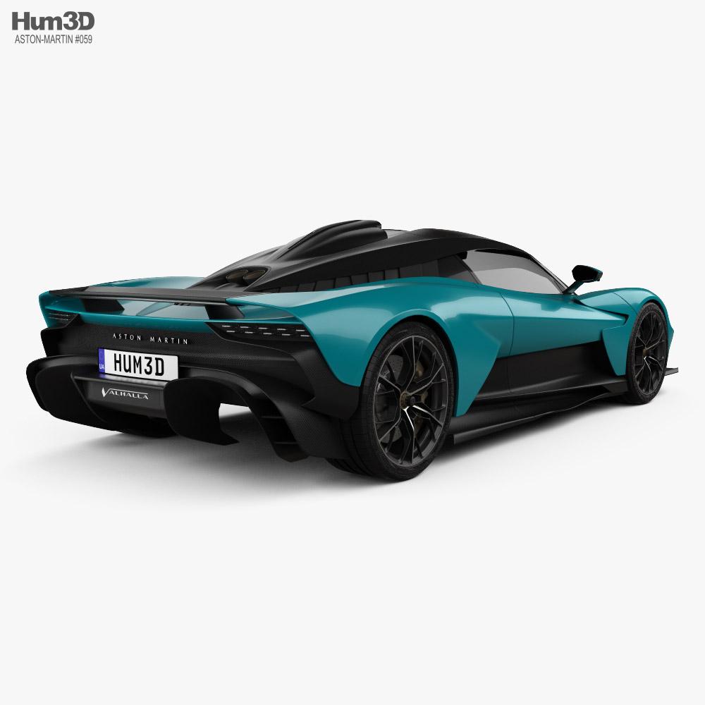 Aston Martin Valhalla 2022 3d model back view