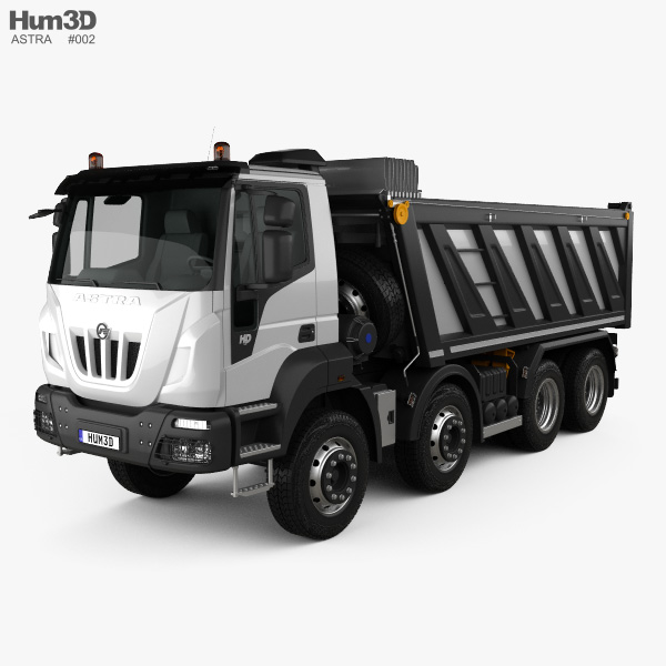 Astra HD9 (84-52) Dump Truck 4-axle 2012 3D model