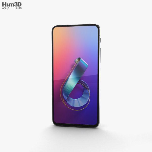 Asus Zenfone 6 (2019) Twilight Silver 3D model