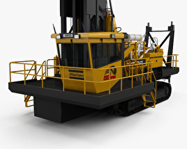 3D model of Atlas-Copco PV-271 Drill Rig 2017